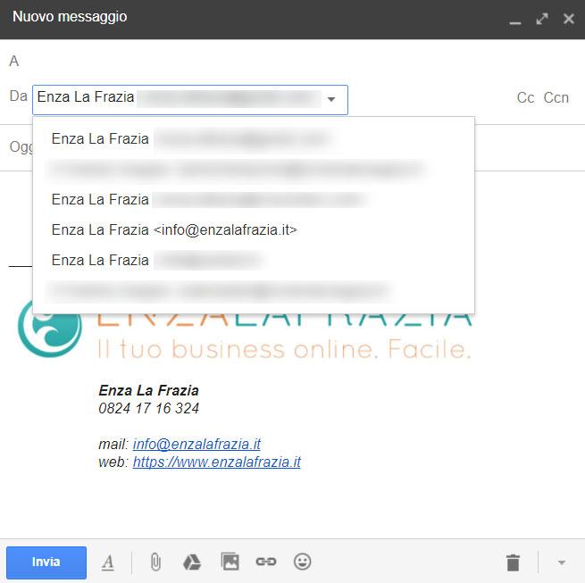 Gmail mittenti multipli