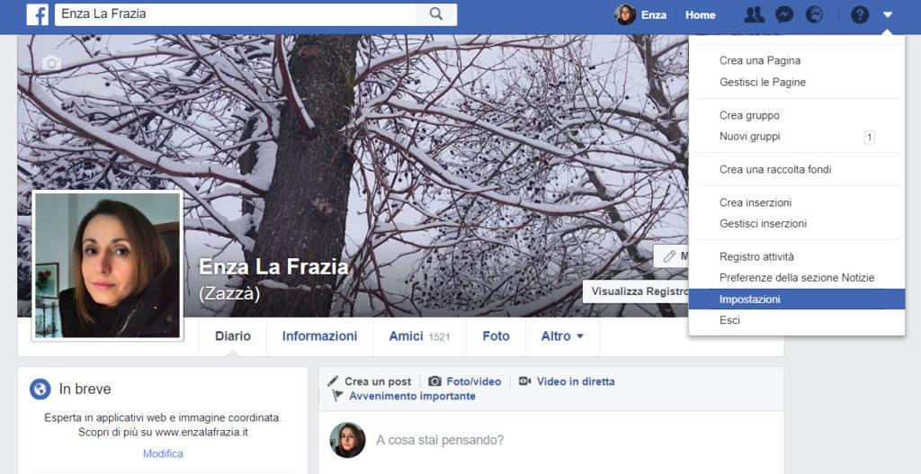 Impostazioni Facebook Desktop