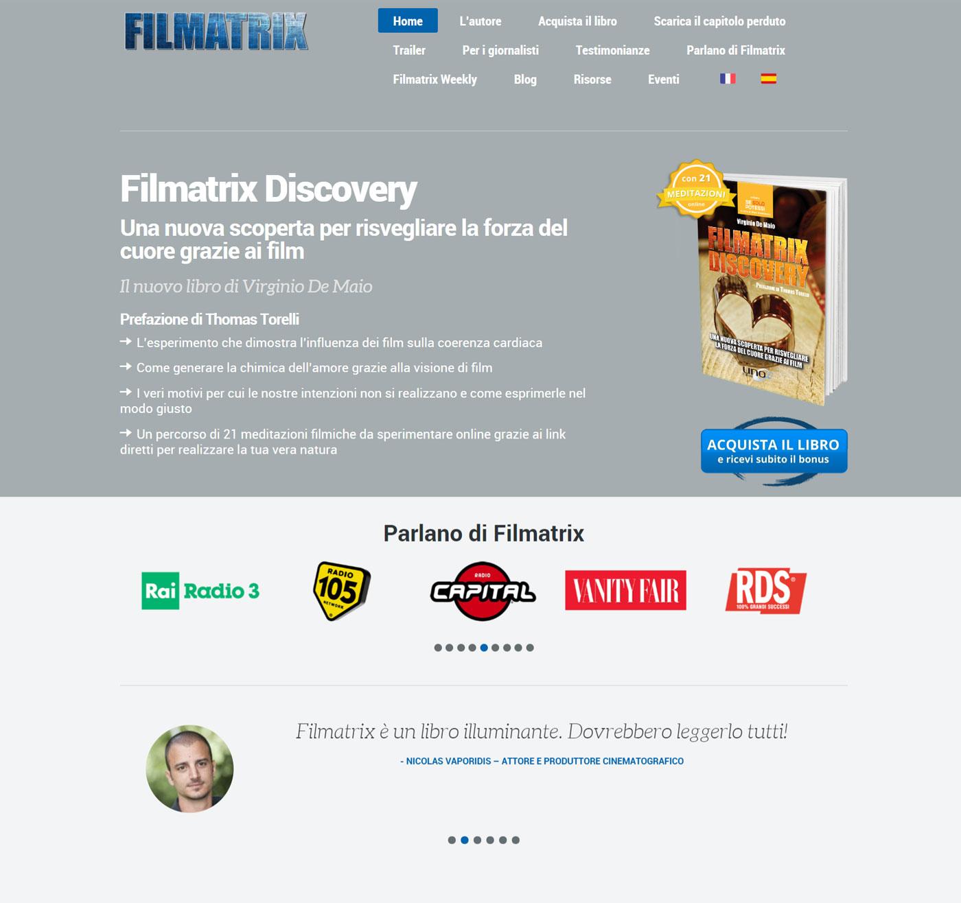 filmatrix progettazione sito web membership