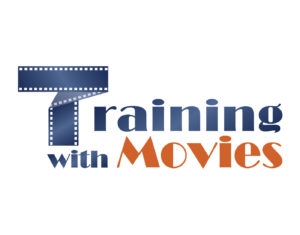 training with movies progettazione logo