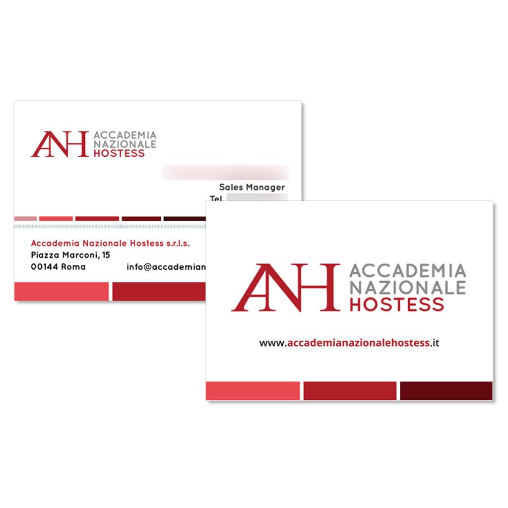 Accademia Nazionale Hostess creazione biglietti da visita