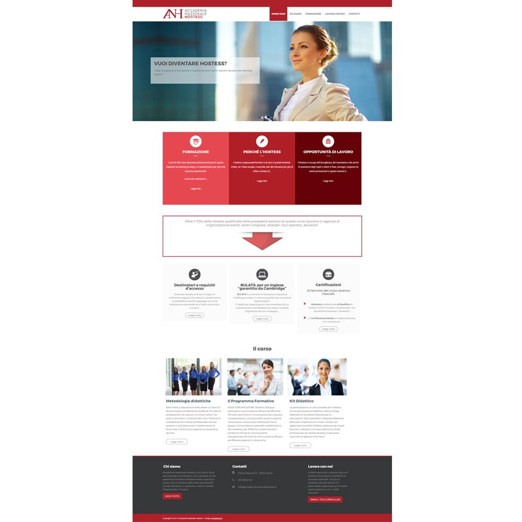 Accademia Nazionale Hostess creazione sito web