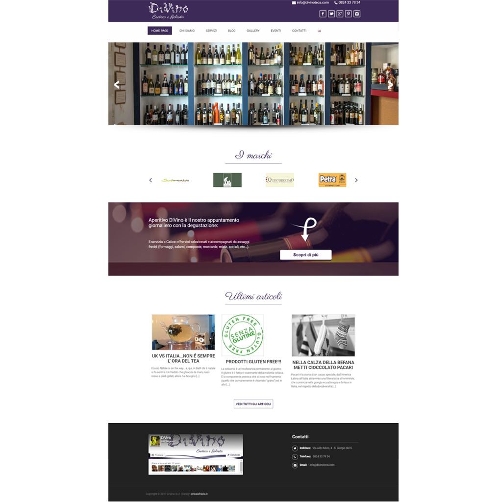 Divino Enoteca progettazione sito web ecommerce