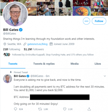Account Twitter Bill Gates Hackerato