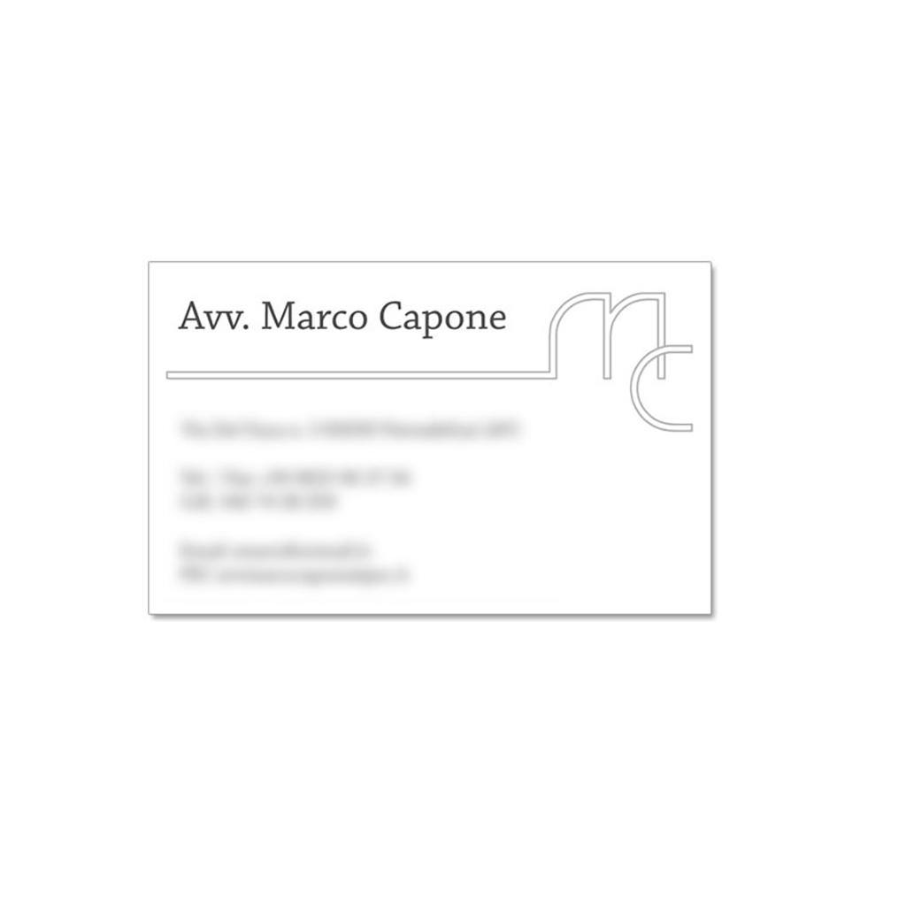 Avvocato Marco Capone creazione bigliatto da visita