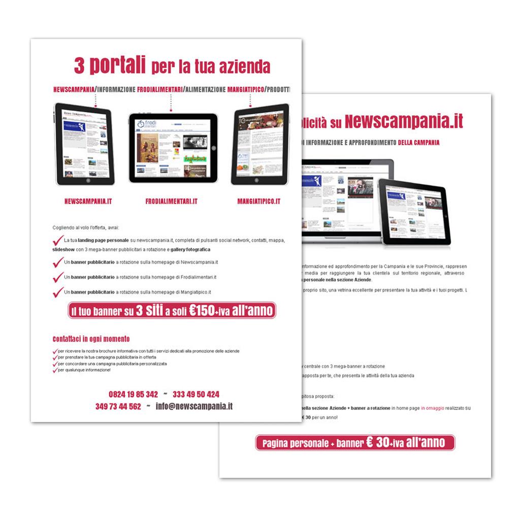 Creazione flyer Newscampania