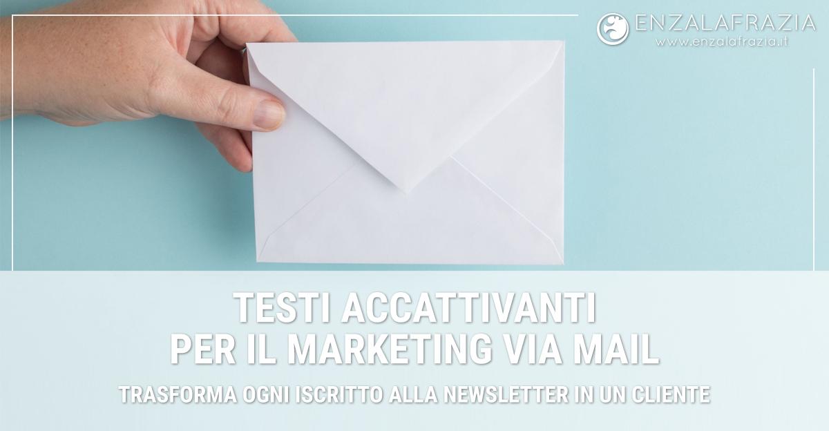 Servizi di Copywriting: Scrittura testi persuasivi per il marketing via email
