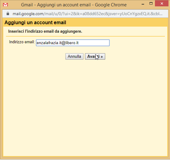 Gmail aggiunti un account email