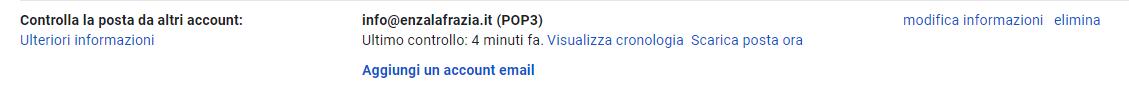 Gmail Controlla la posta da altri account